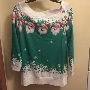 Green/whit Christmas Shirt